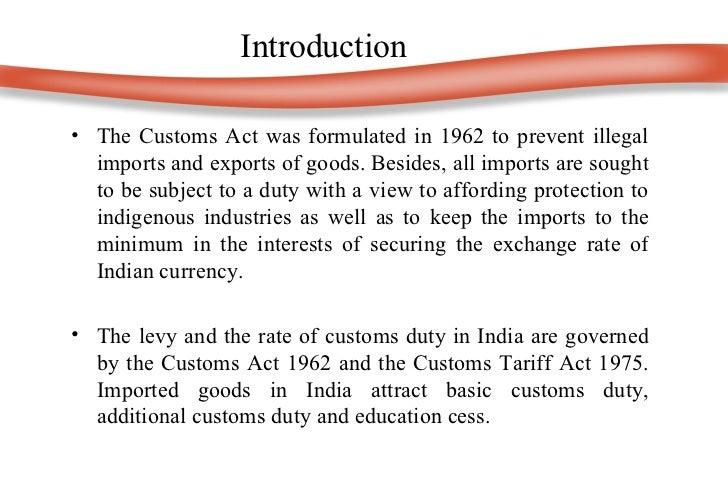 Customs Act 1962 Pdf