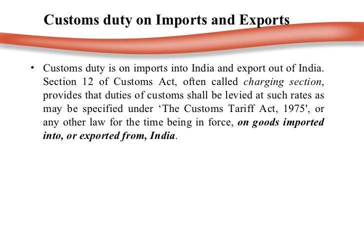 Customs duty ppt  Slide 3