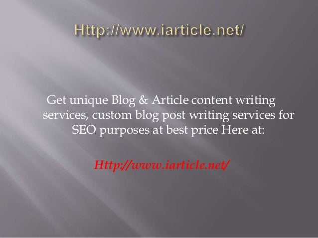 Get High Quality Written Content, For Your Target Audience