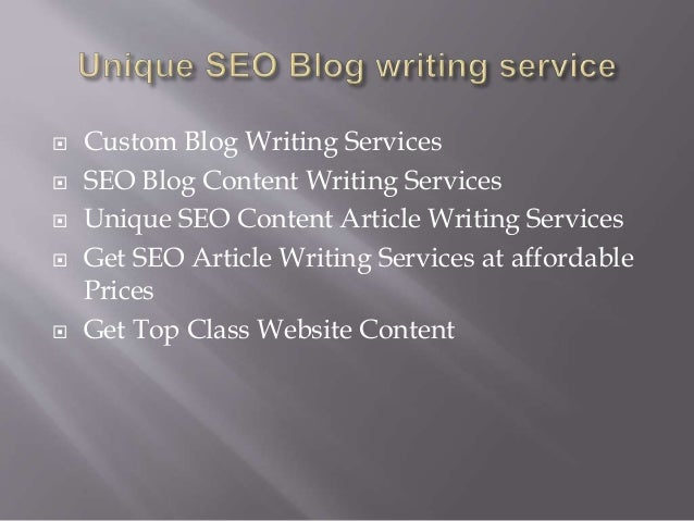 Custom seo article writing service
