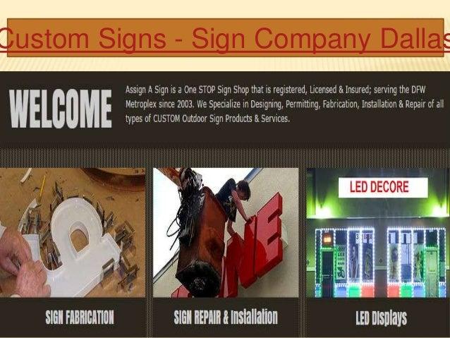 Custom Signs - Sign Company Dallas