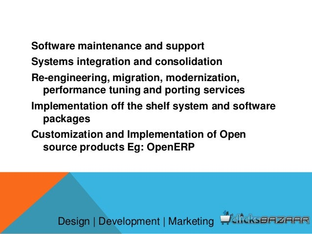 Custom software development service for Product design and development services
