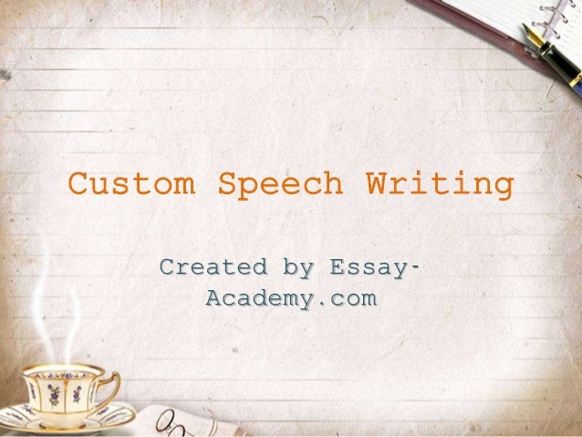 custom speech writing