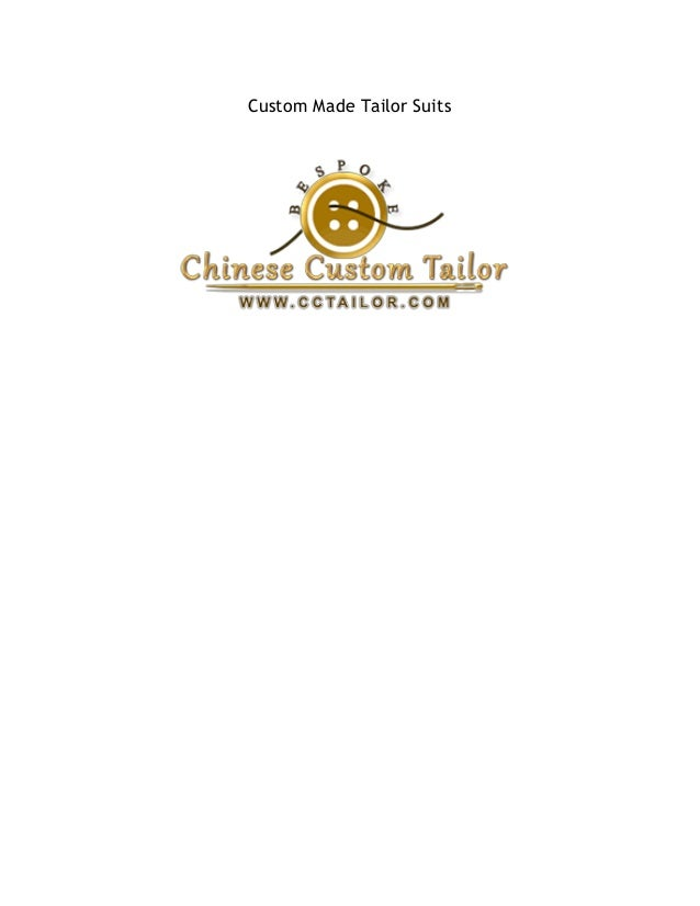 Custom Made Tailor Suits