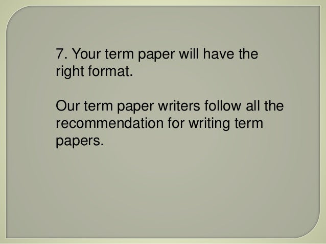 Custom term papers