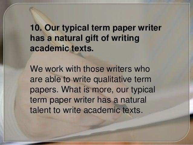 Custom term paper writing