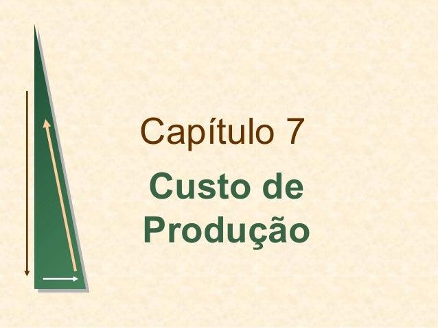 Capítulo 7 Custo de Produção