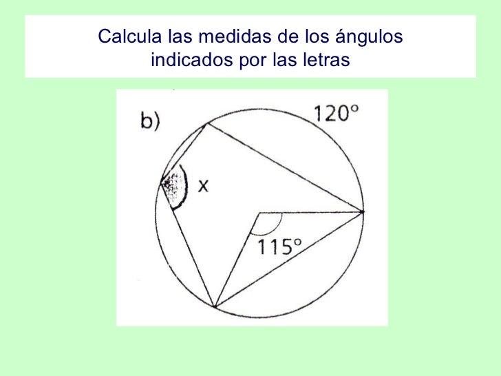 Angulos de la circunferencia for Significado exterior