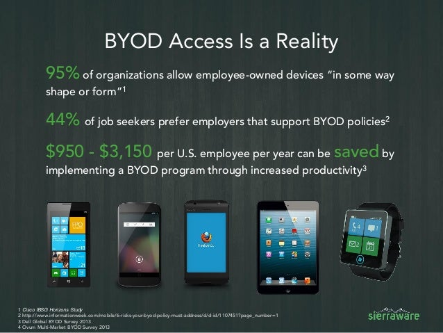 Cut BYOD Costs Using Virtual Mobile Infrastructure - VMI Slide 2