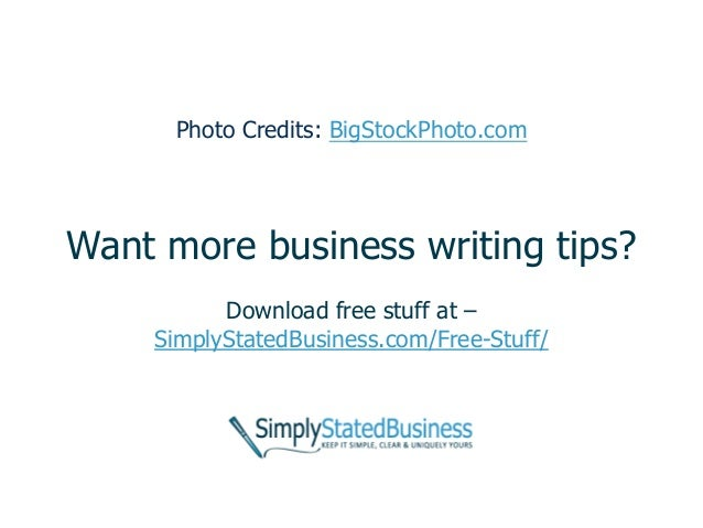 Business writing tip of the day image