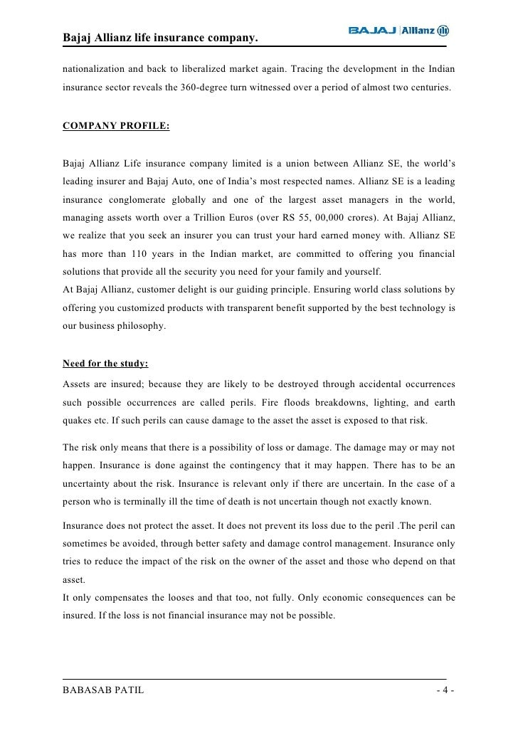 project report on consumer perception about bajaj allianz Bajaj allianz general insurance jointventurebetweenbajajfinservlimited grievance redressal and consumer awareness initiatives monitoring investments by insurers professionalism could be lost both in perception as well in the legal sense as.