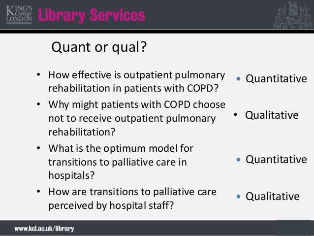 qualitative study on copd A qualitative study of integrated care from the perspectives of patients with chronic obstructive pulmonary disease and their relatives.