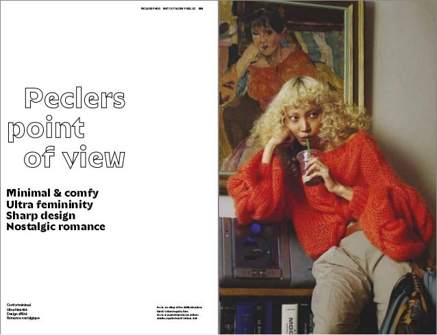 004 005PECLERS PARIS KNIT CUT & SEW FW21-22 Peclers point of view Soo Joo, as a vintage doll in a childlike atmosphere, Da...