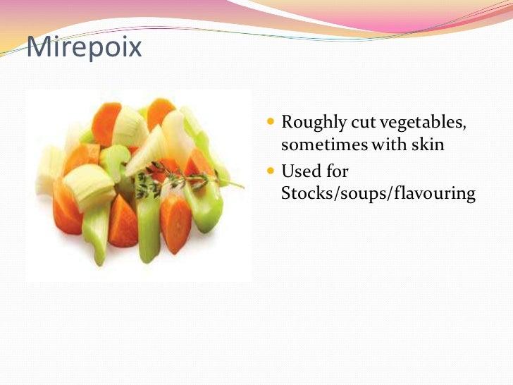 Cuts Of Vegetables