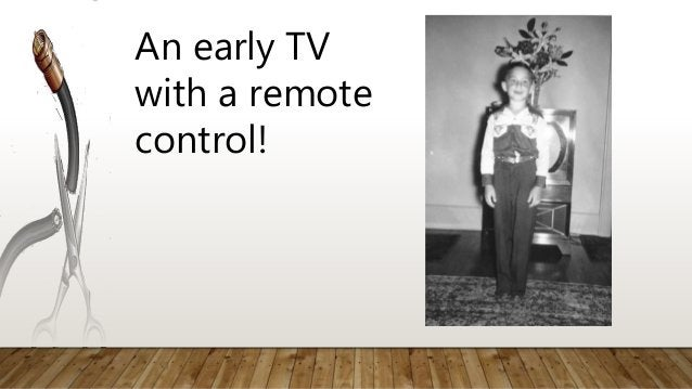 An early TV with a remote control!