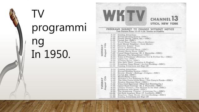 TV programmi ng In 1950.