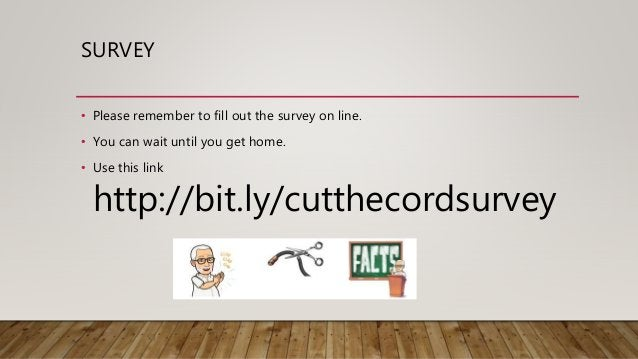 Cut the cord  cfcs-oct14-2018