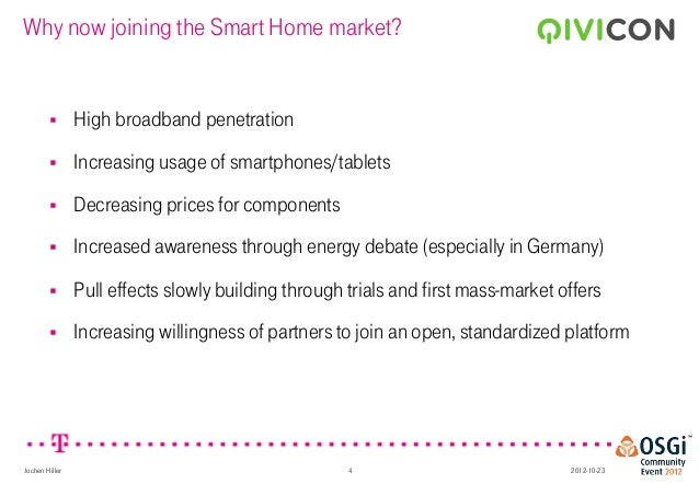 Cut The Gordian Knot The Qivicon Ecosystem For Smarthome Jochen H
