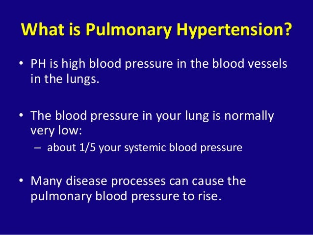 "Pulmonary Arterial Hypertension, ""The Other High Blood ..."