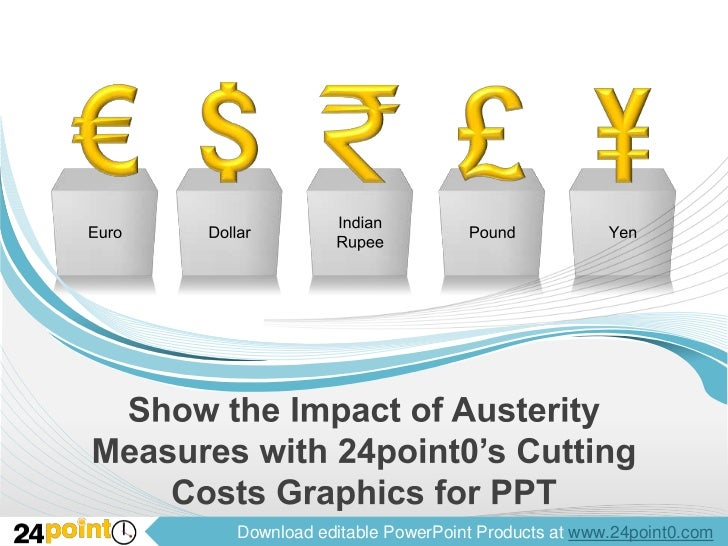 Show the Impact of Austerity Measures with 24point0's Cutting Costs Graphics for PPT<br />