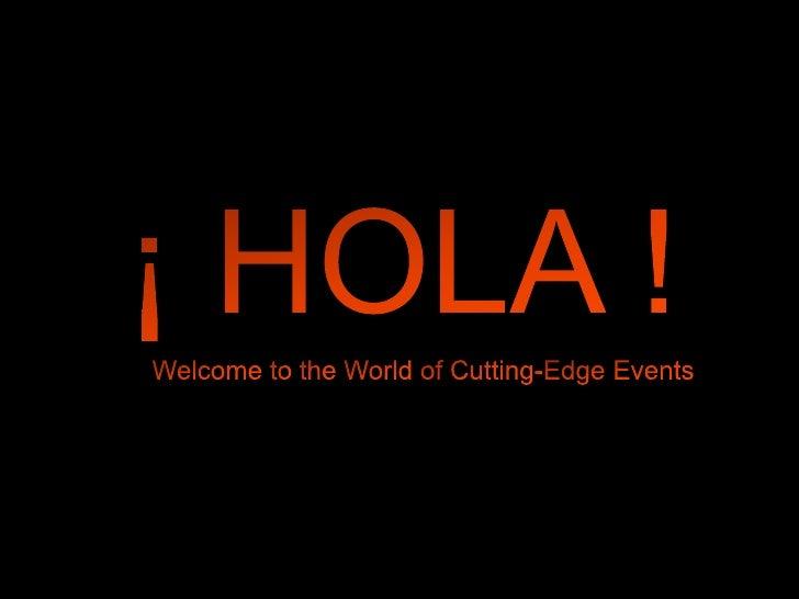 Cutting Edge Events Spain