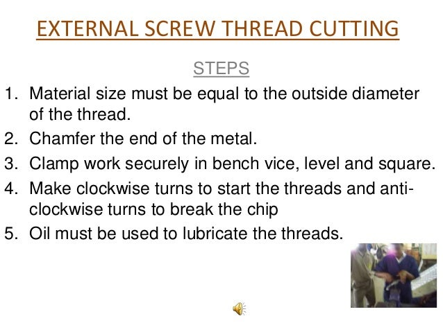 Cutting external threads