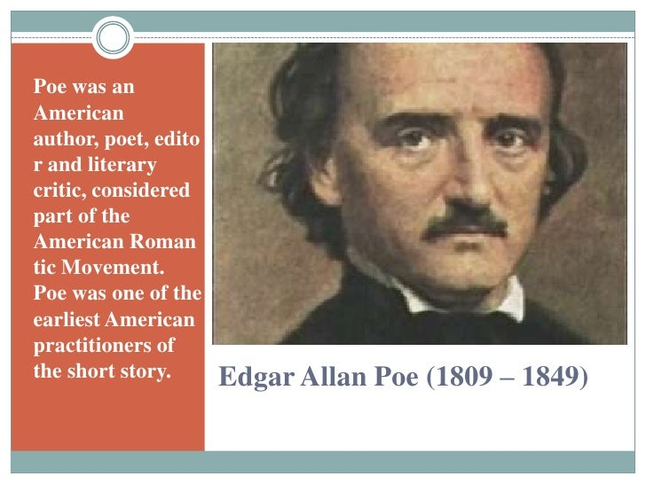 the impact of edgar allan poe on the american romantic and gothic literature This paper will show how edgar allan poe has made an impact on society and american literature as well as how edgar allan  writers of the dark romantic.