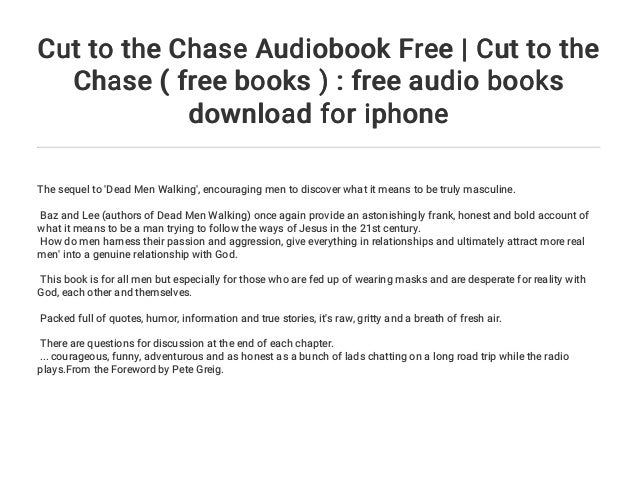 cut to the chase book