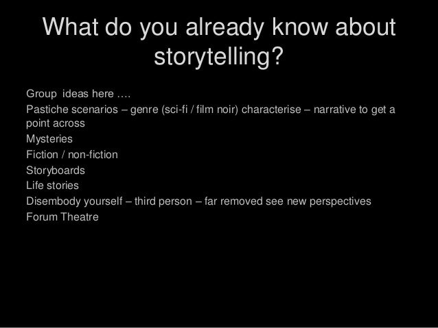 Probes & Storytelling