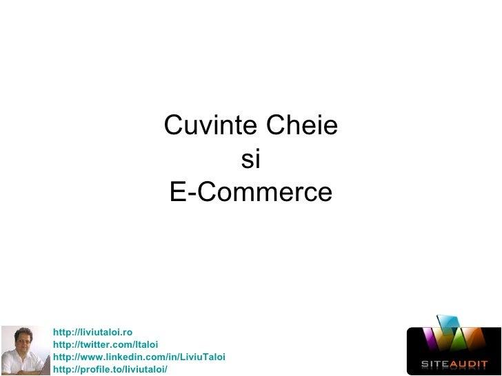 Cuvinte Cheie si E-Commerce