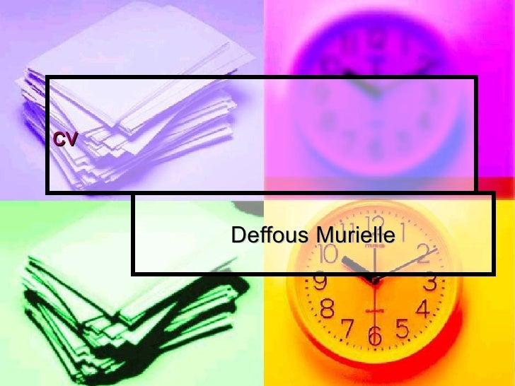 cv Deffous Murielle