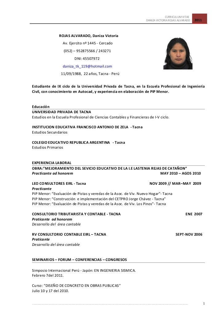 Modelo Curriculum Vitae Basico Peru