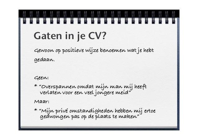 Sterk in je CV