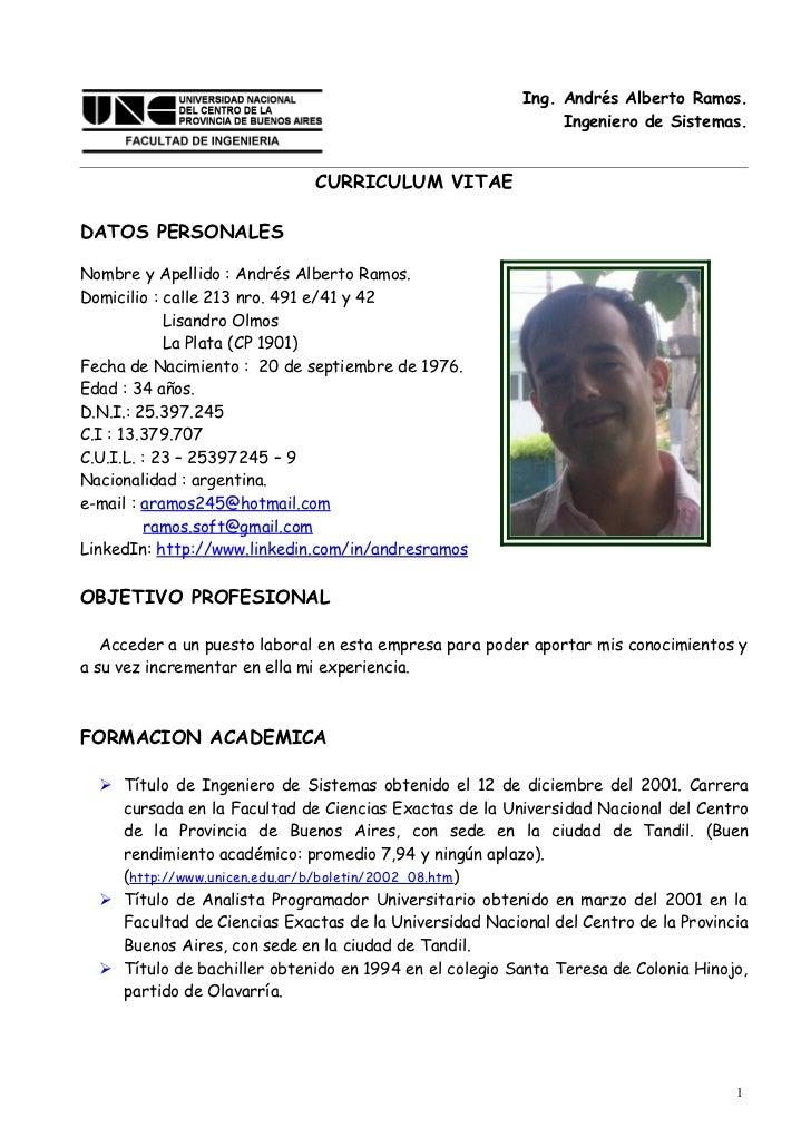 Curriculum Vitae aramos245