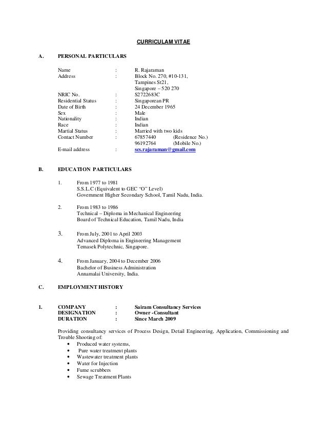 diploma in mechanical engineering resume format
