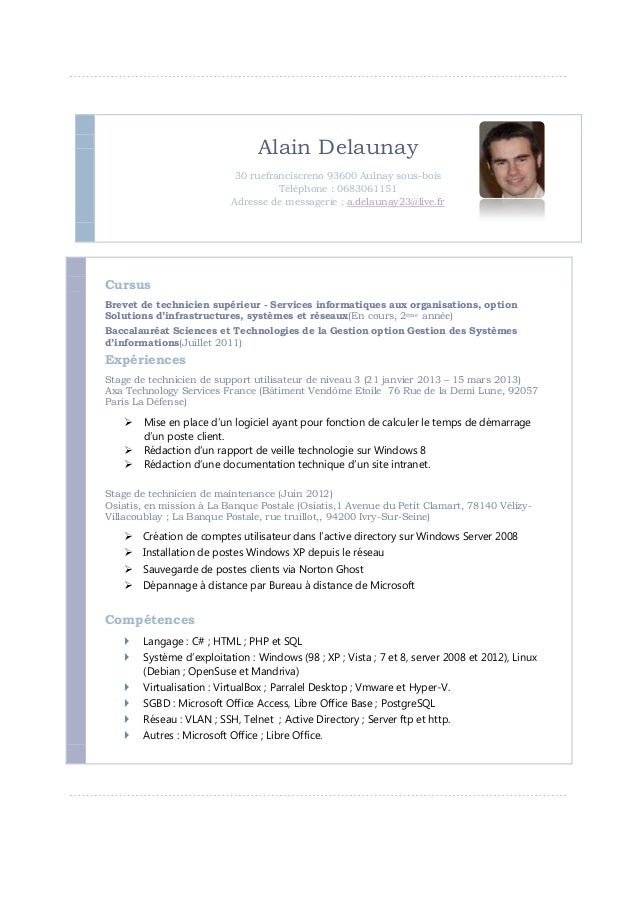 Alain Delaunay                             30 ruefranciscreno 93600 Aulnay sous-bois                                      ...