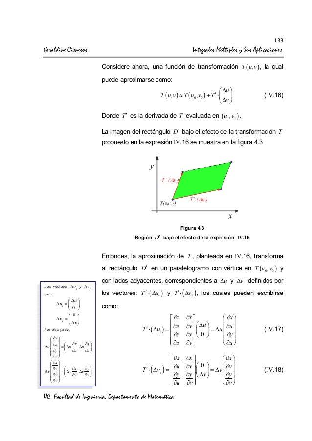 Cambio de variables de las integrales multiples for Les multiples de 6