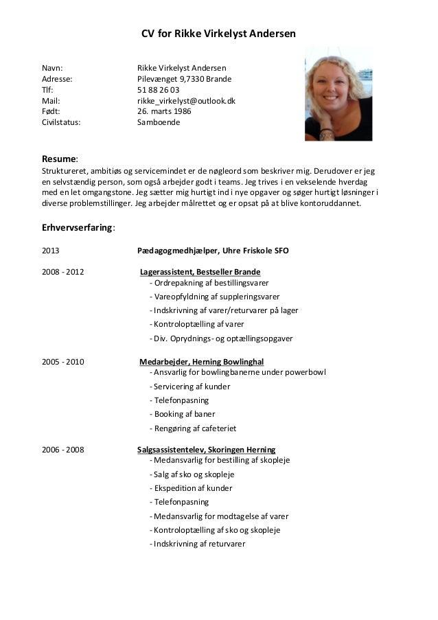 Danish resume