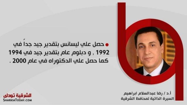 السيرة الذاتية لمحافظ الشرقية أ.د/ رضا عبد السلام إبراهيم Slide 3