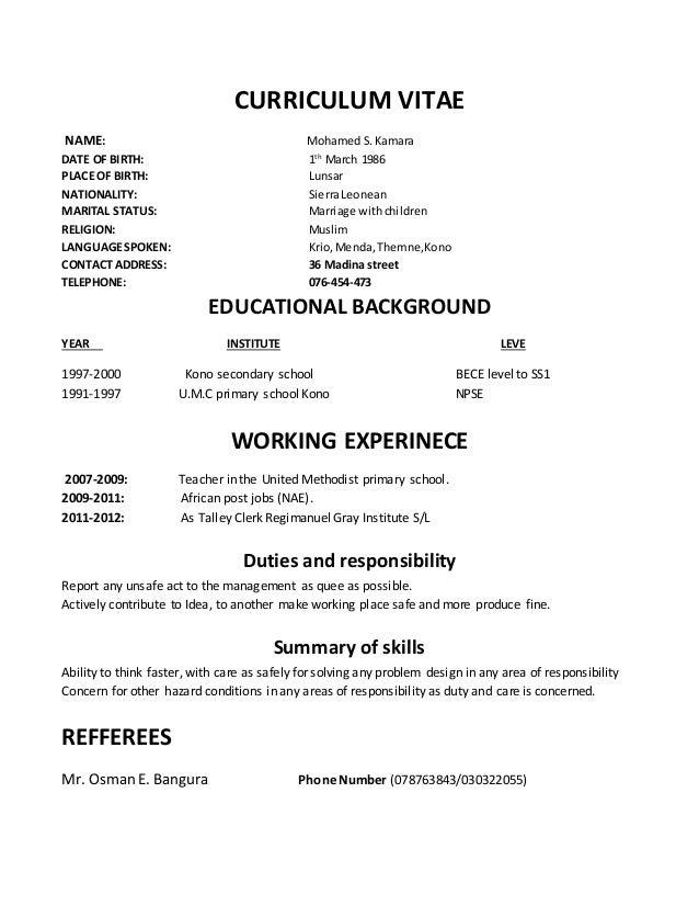Bon Resume Skill