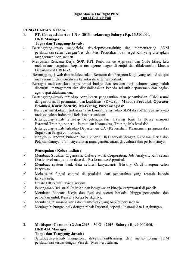 Contoh Surat Lamaran Kerja Di Pabrik Garment | Surat Selngkap