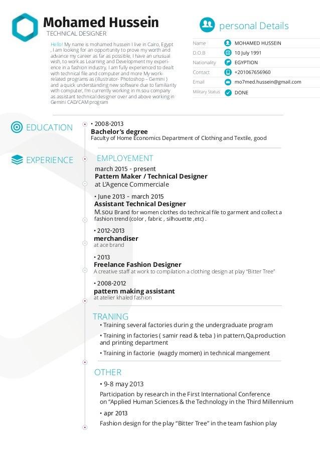 apparel designer resume