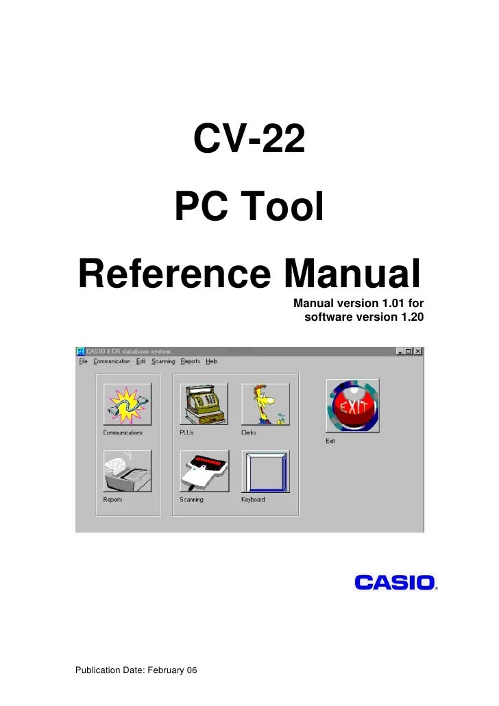 CV-22                       PC ToolReference Manual                Manual version 1.01 for                                ...