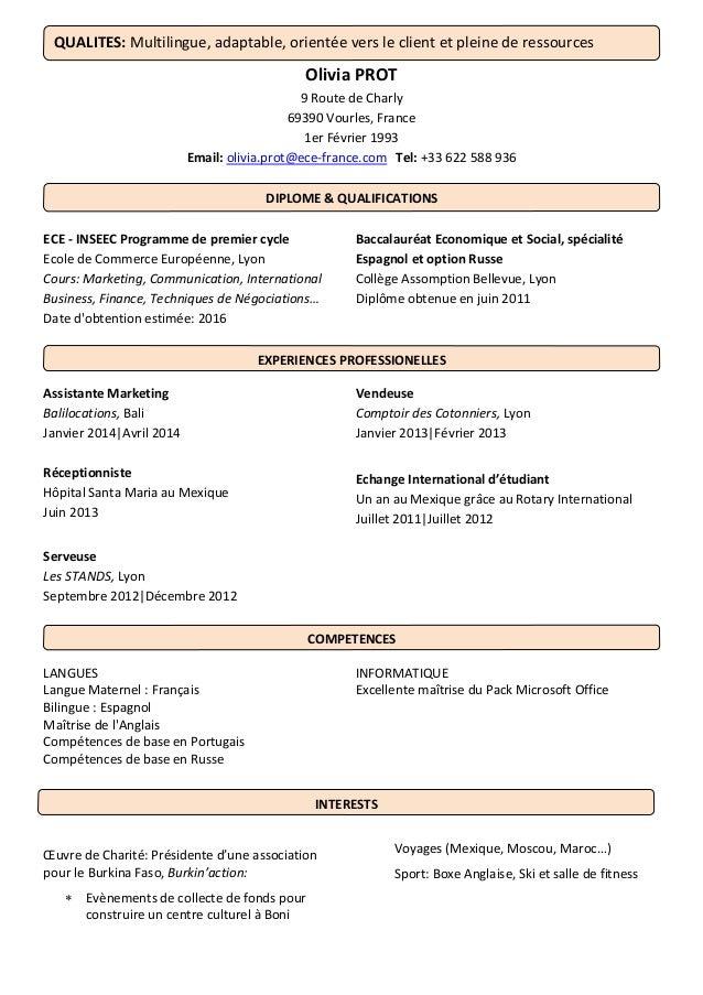 cv 3 langues