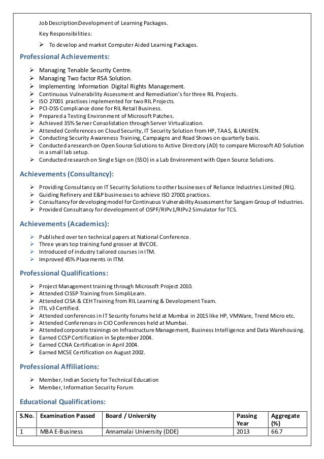 3 - Security Professional Resume