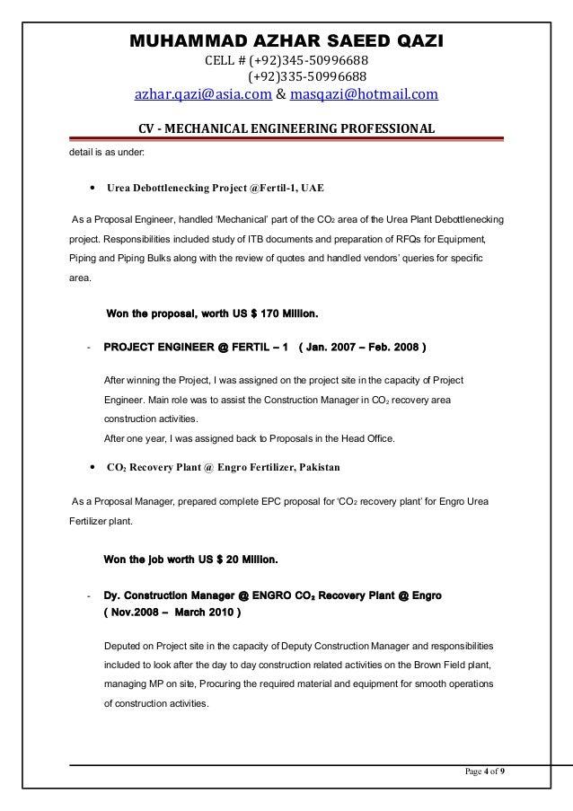 CV---MECHANICAL ENGINEER / EPC-PROPOSALS MANAGER