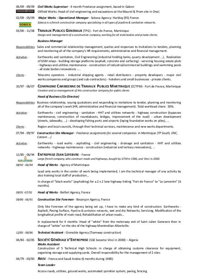 civil supervisor resume format cv site engineer civil sales