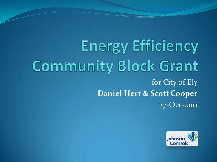 for City of ElyDaniel Herr & Scott Cooper                27-Oct-2011