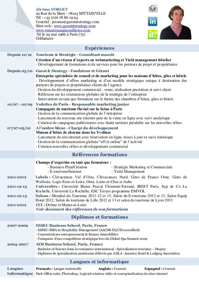 Références formationsDiplômes et formationsLangues et informatiqueJérôme FORGET22 Rue de la Mare - 78125 MITTAINVILLETél :...
