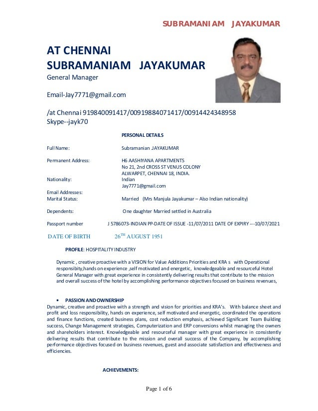 Sample cv of hotel general manager & Can Write My Term Paper For ...